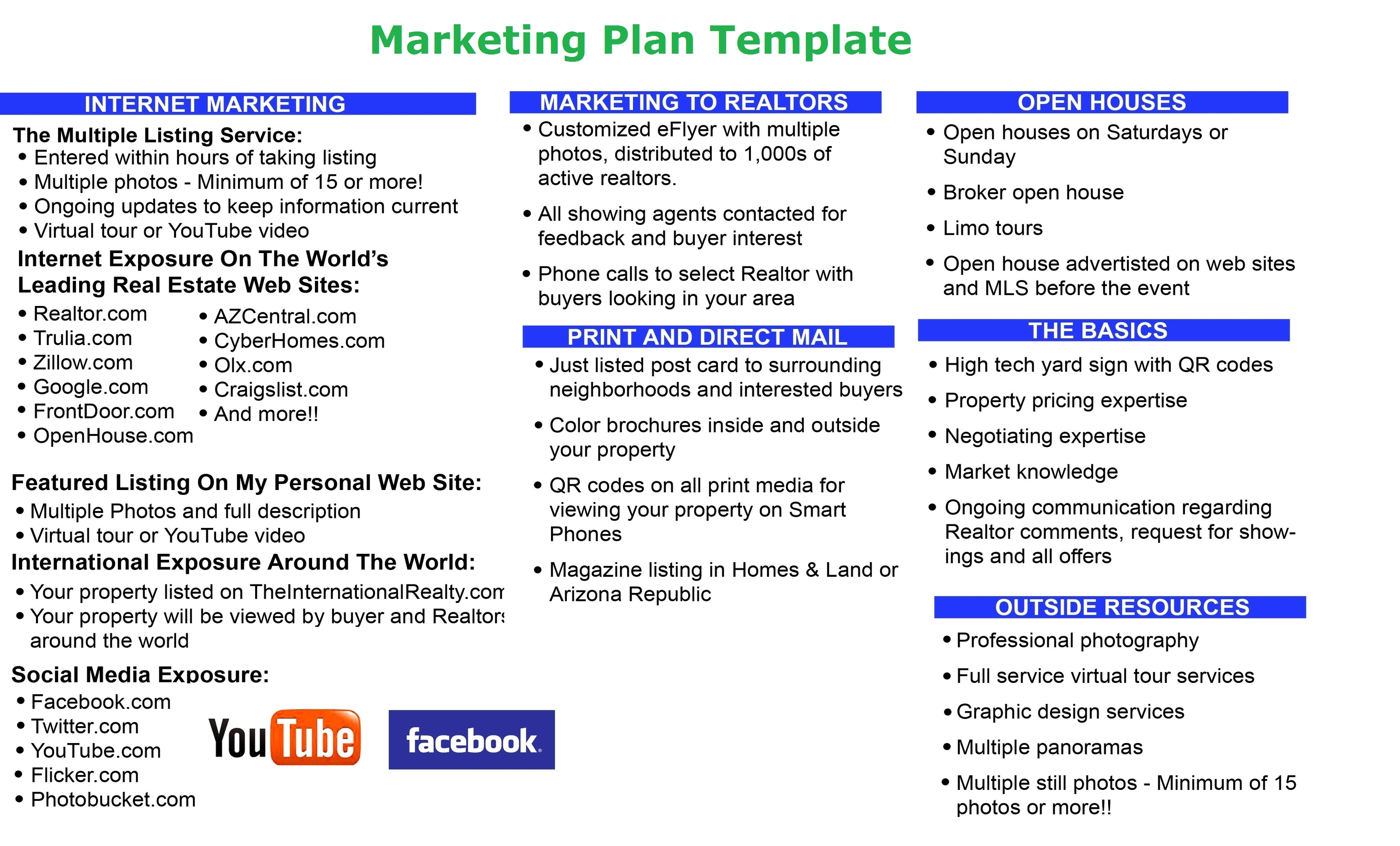 education business marketing plan